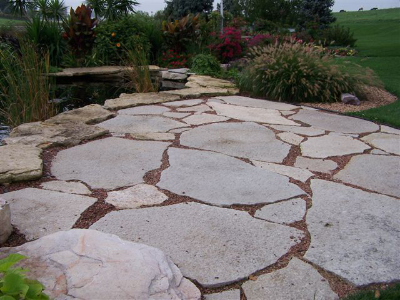Large Flagstone Stone Center